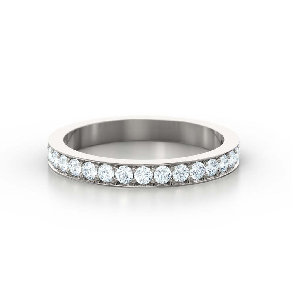 Pave set eternity ring