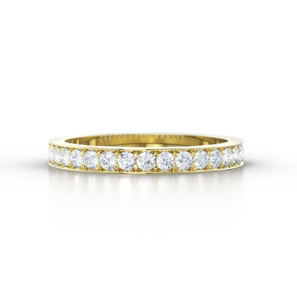 Pave set eternity ring