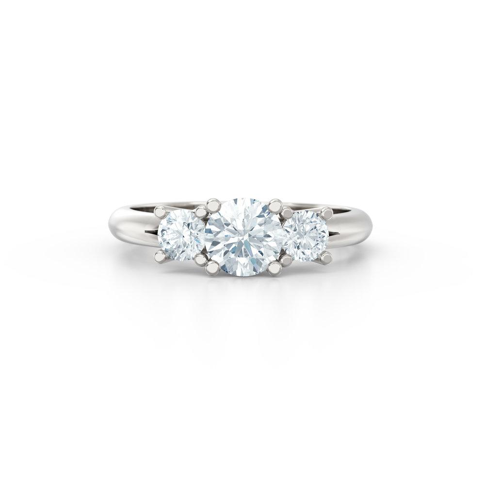 Trilogy Engagement Rings | Hatton Garden