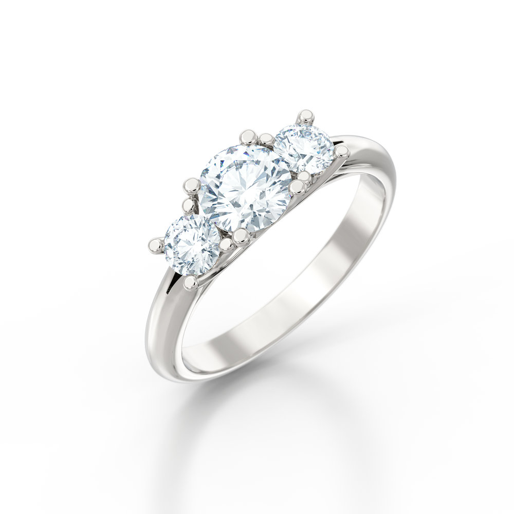 Trilogy Engagement Rings | Hatton Garden