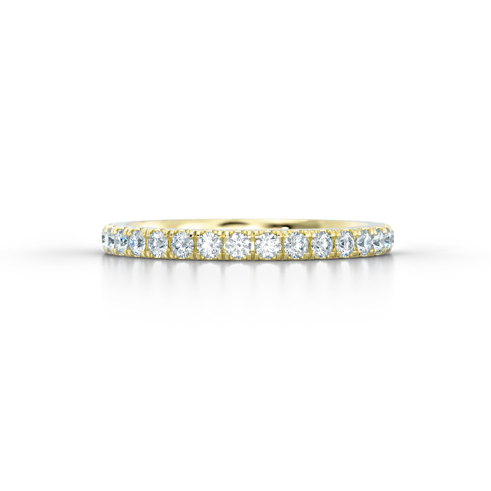 Yellow Gold Micro Set Eternity Ring | Hatton Garden