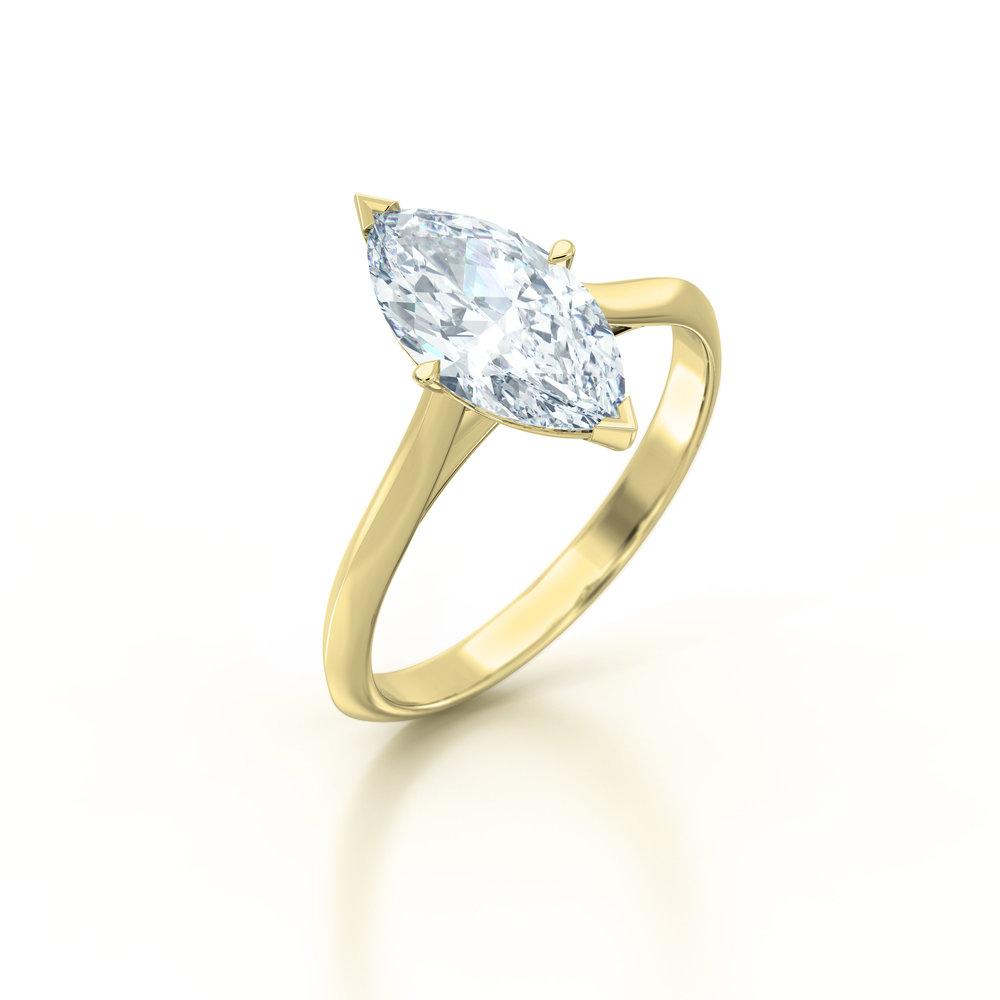 Marquise Cut Solitaire Engagement Ring | Hatton Garden