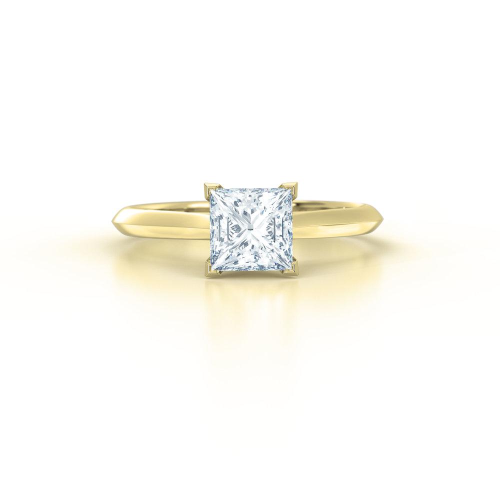 Princess Cut Solitaire Engagement Ring | Hatton Garden
