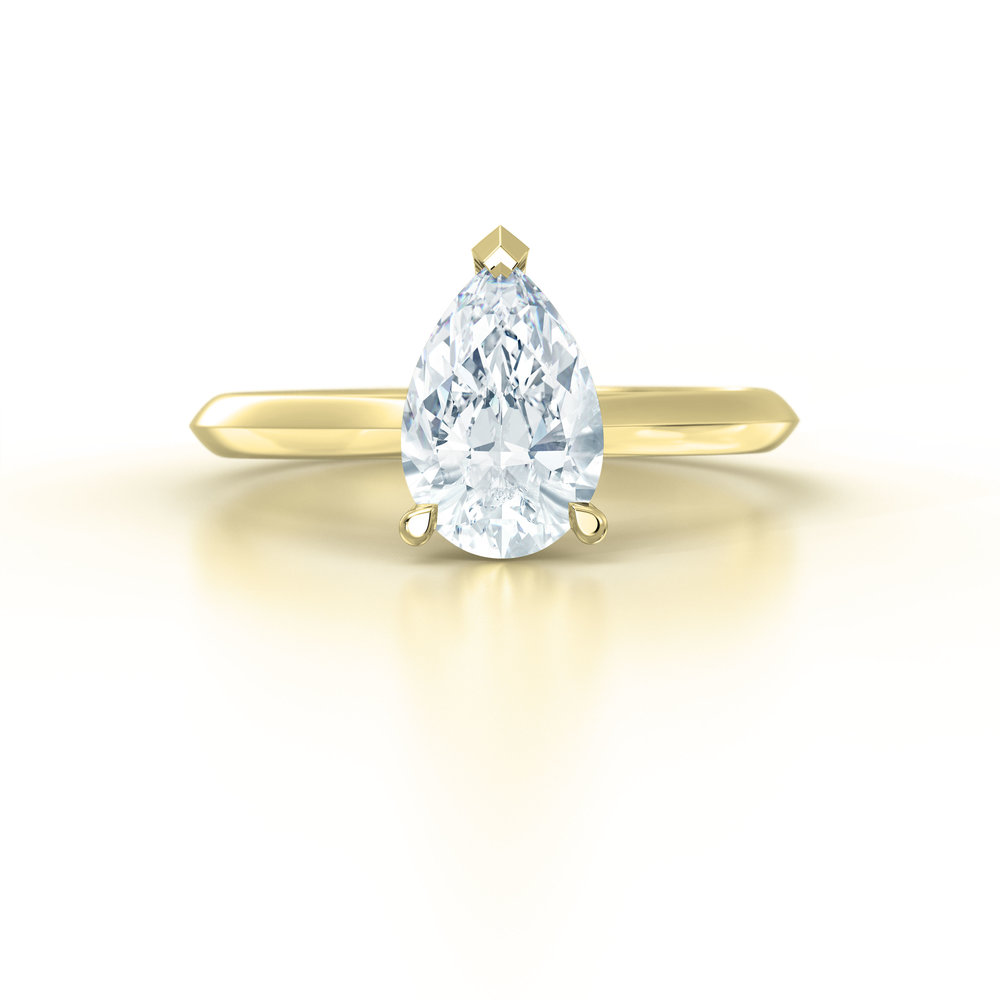 Pear Shape Solitaire Engagement Ring | Hatton Garden