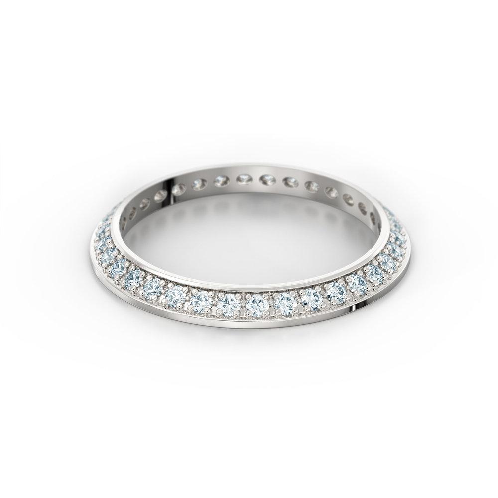 Half Knife Edge Eternity Ring | Hatton Garden | Love Fine Diamond