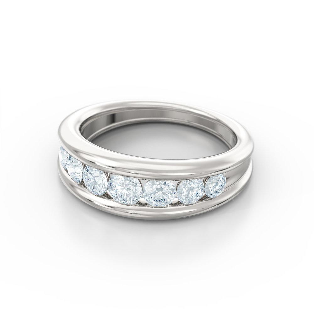 Tapered Brilliant Cut Eternity Ring | Hatton Garden