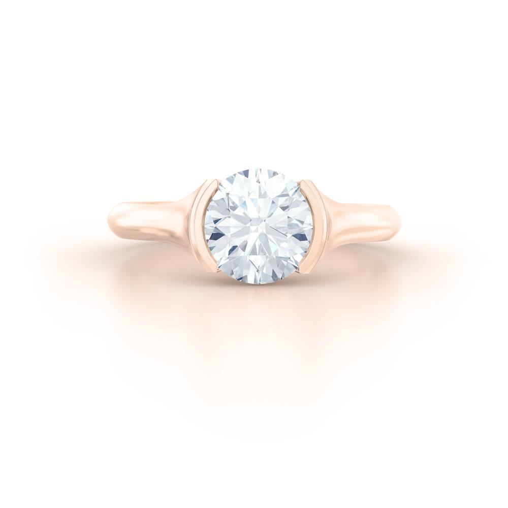 Rub Over Solitaire Engagement Ring | Hatton Garden