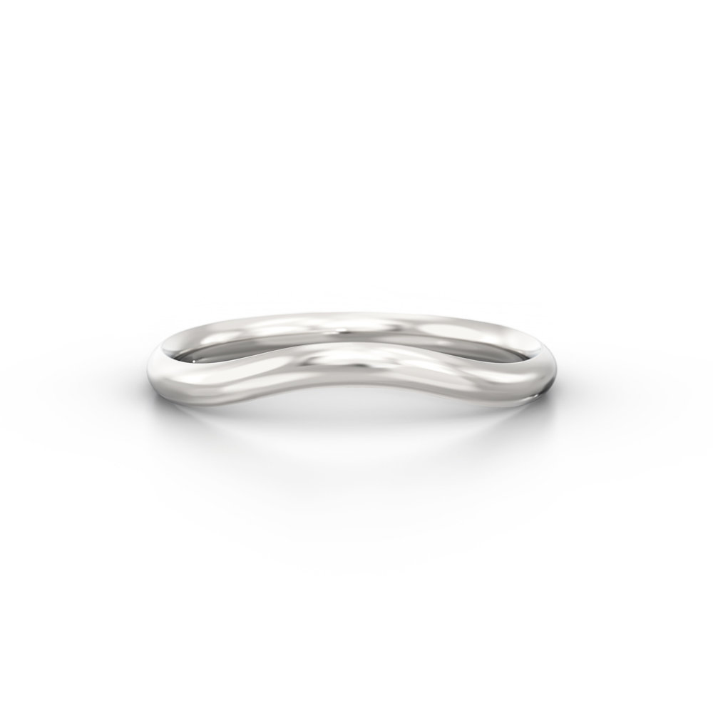Horse shoe french court wedding band | Hatton Garden
