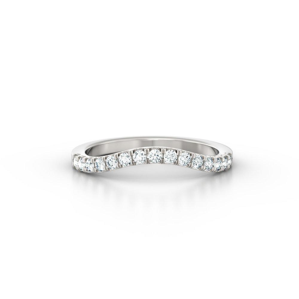 Diamond wishbone shaped wedding band | Hatton Garden