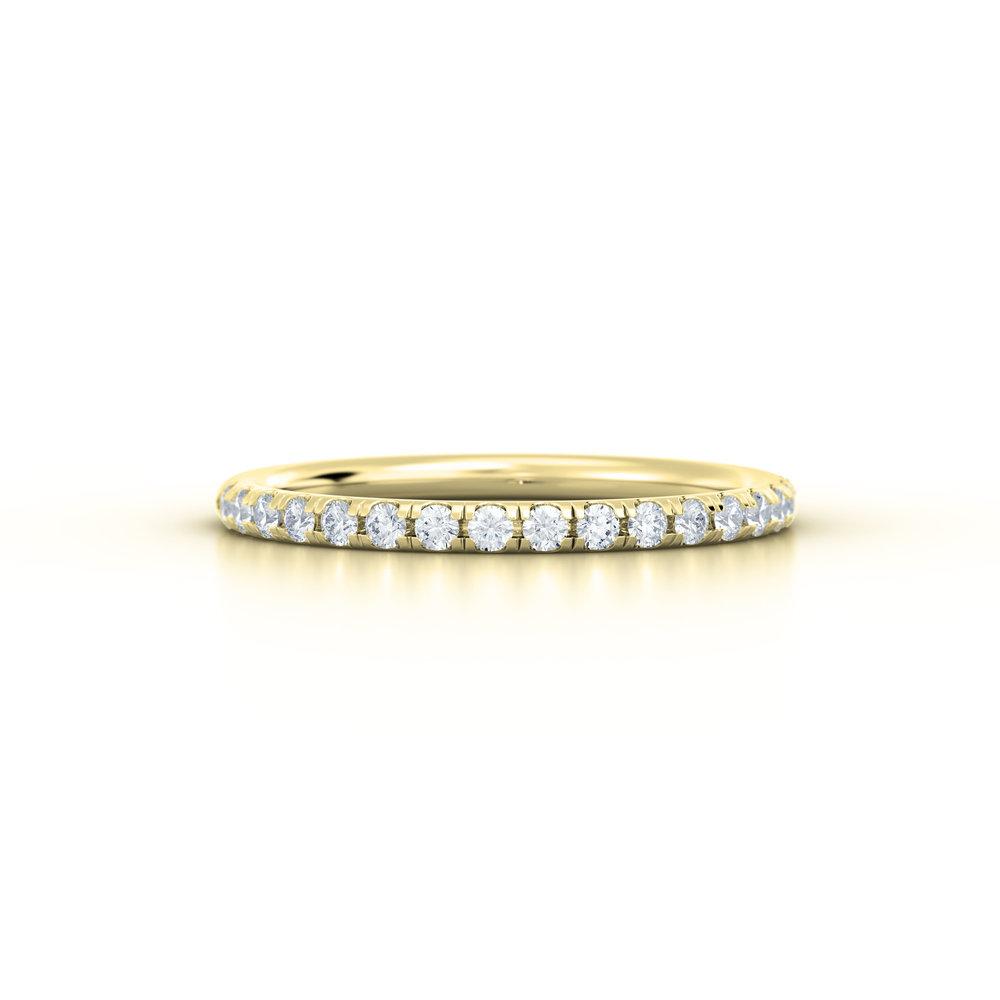 Split claw diamond eternity ring | Hatton Garden