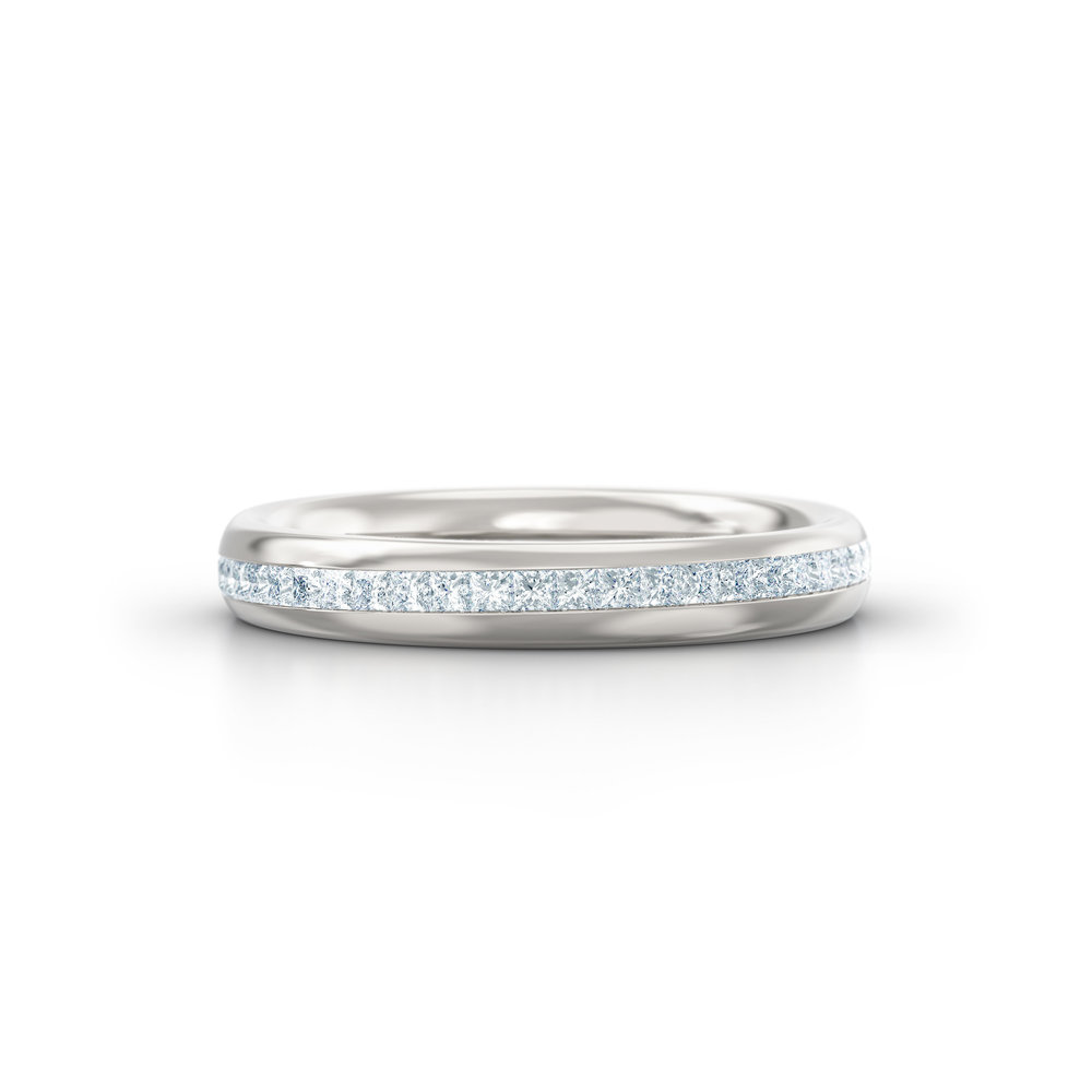 Princess Cut Channel Set Eternity Ring | Hatton Garden | London
