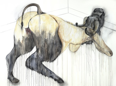 acrylic paint and charcoal on canvas  200 x 270cm