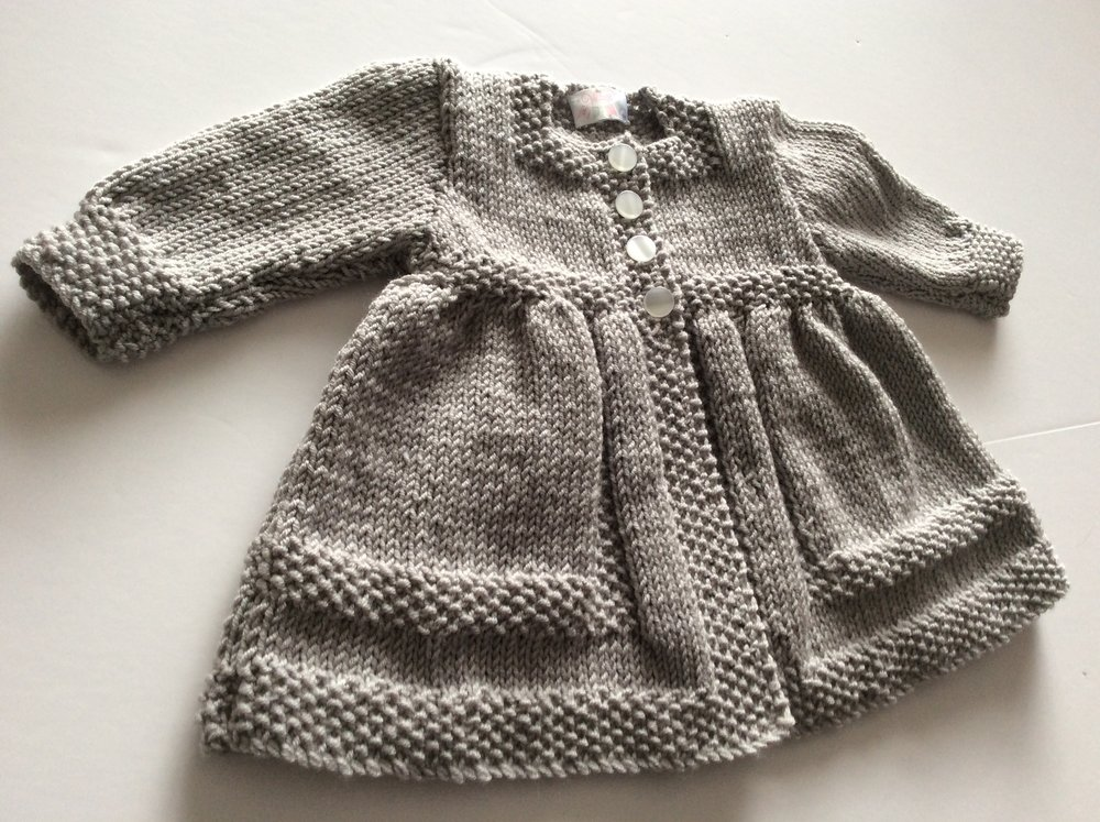 4064c9d11f1e Hand knitted traditional matinee coat