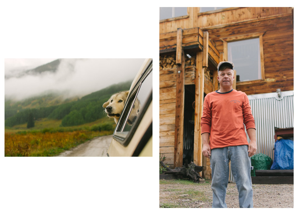 John and his dog Diptych