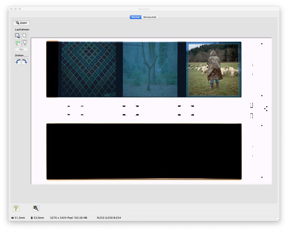 """In the preview make a small selection inside the frame and click """"auto exposure""""."""