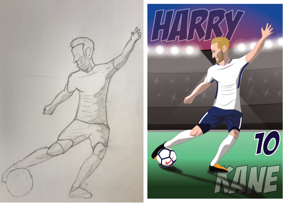 Harry Kane - Pencil to Print