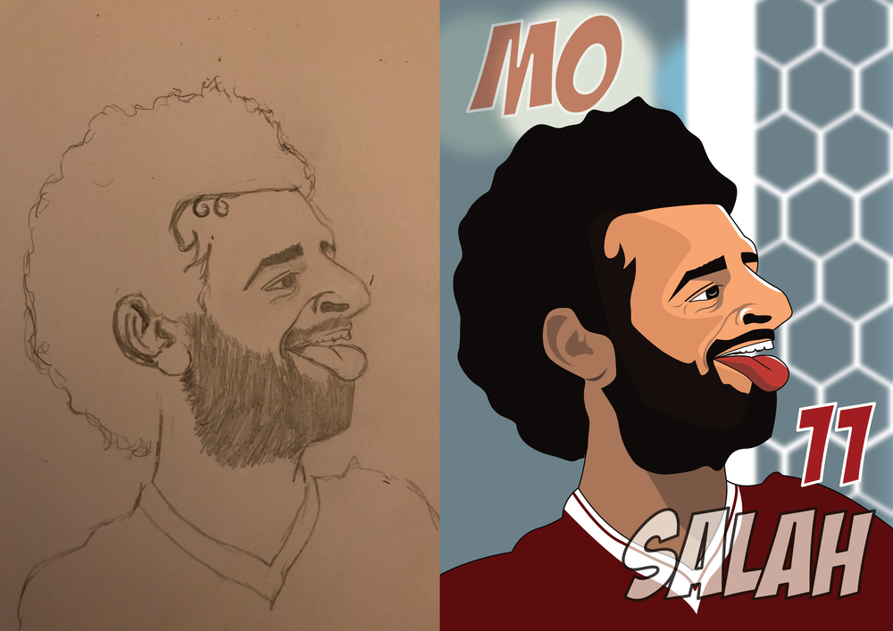 Mo salah - Pencil to Print