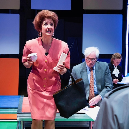 """Jessica Martin rises to the occasion. - A remarkable lookalike, she turns in a performance of comic energy and hubris that would have outshone Margaret Thatcher, had her political contemporary and Prime Minister been granted stage time.""- Woddis Reviews"