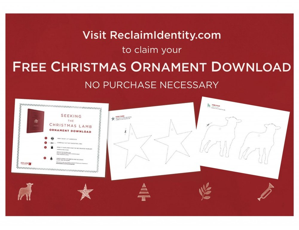 Special Offer:  Free Christmas Ornaments to Match the Icons in Seeking the Christmas Lamb