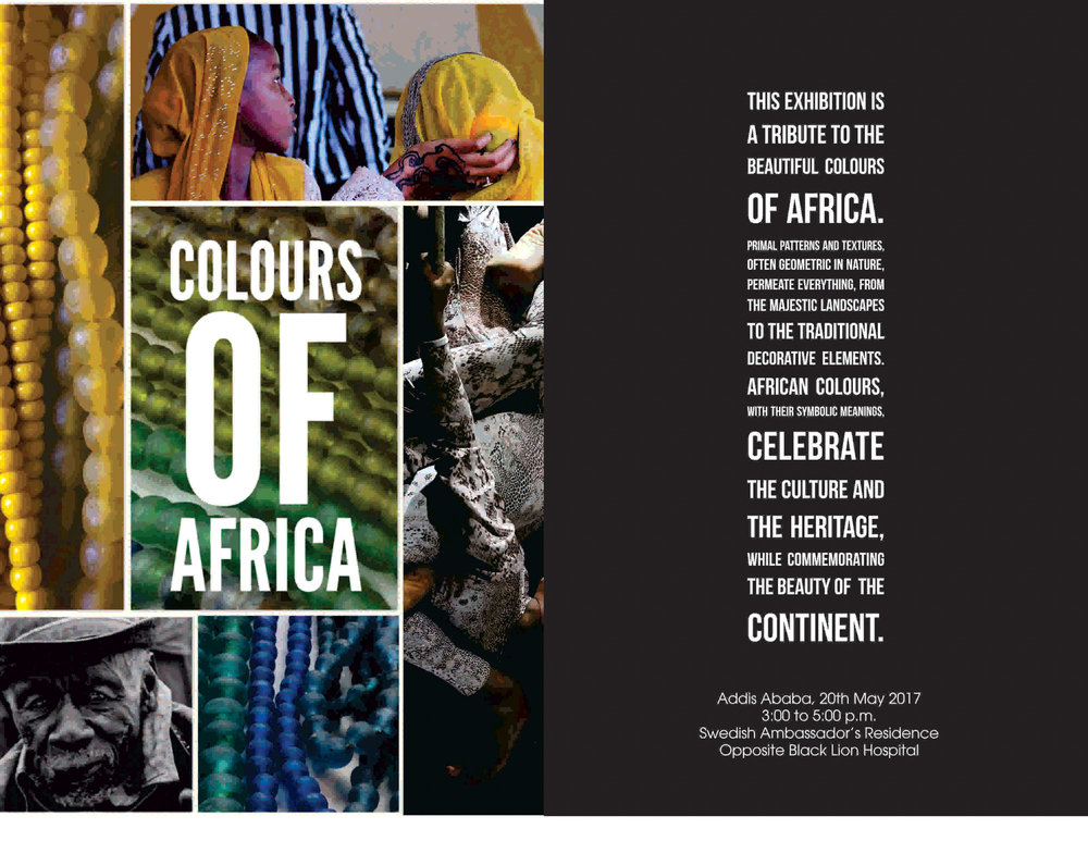 'Colors of Africa', May, 2017 - Addis Abeba  An exhibition on the African continent by jewelry designer Katia Ostili and photographer Filippo Brasesco.