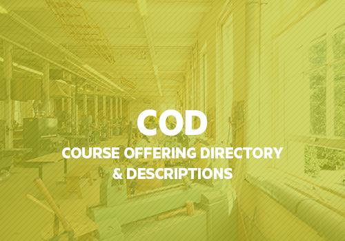 EXPLORE   Read course descriptions for all MSA course offerings