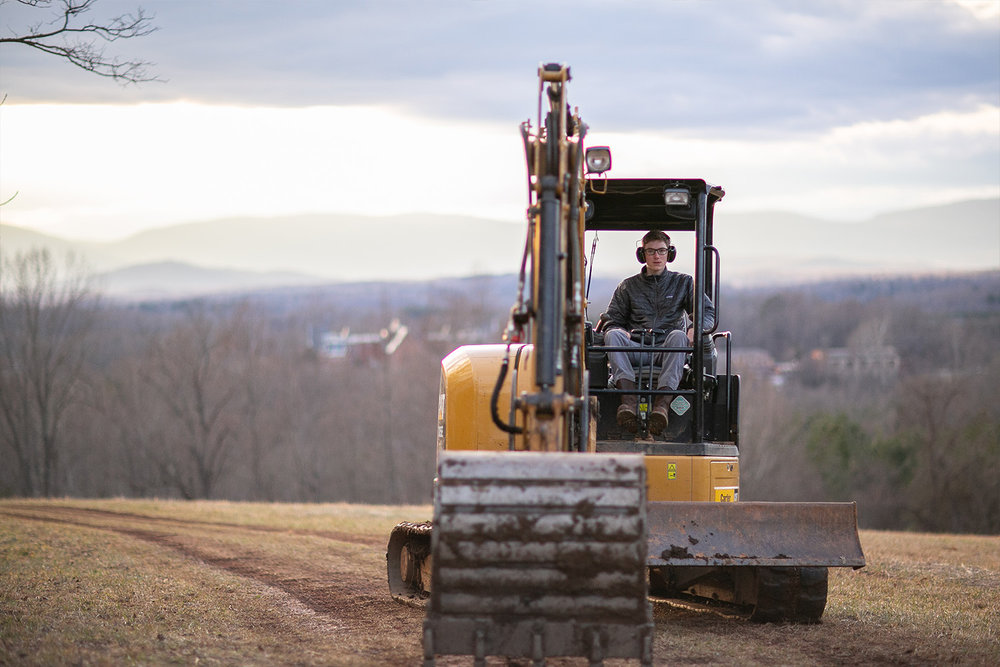 customImage  Jay in his element operating a Caterpillar 305 CR provided to MSA by his employer Contour Construction.