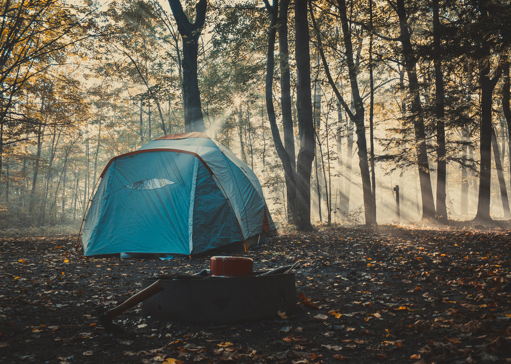 Fall camping in Peninsula State Park