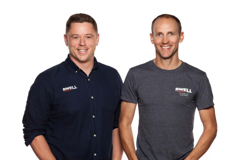 Swell co-founders Iaian Archibald (CEO) and Craig Sheppard (CTO)
