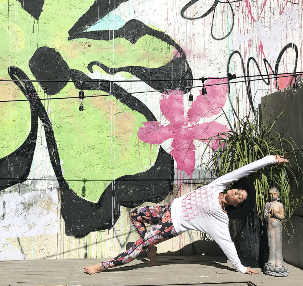fashionyogagirlBloom So thankful for such a beautiful day at @urbanyogafest -