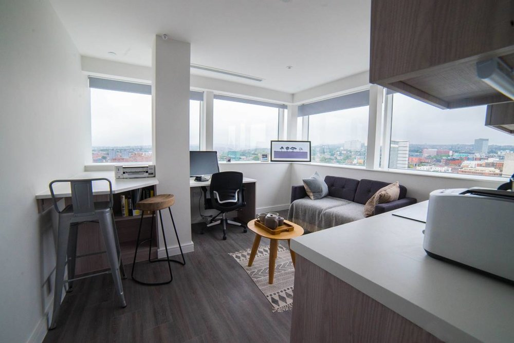 apartments offer spectacular view across the city