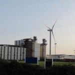 Industrial site wind turbine