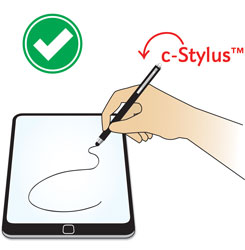 Capacitive touch screen with c-stylus