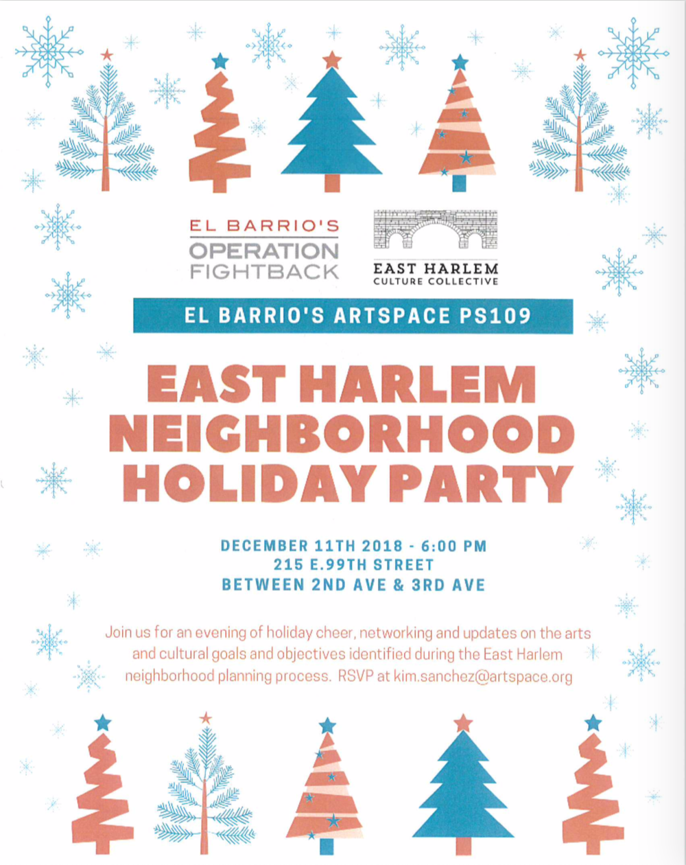 East Harlem Neighborhood Holiday Party