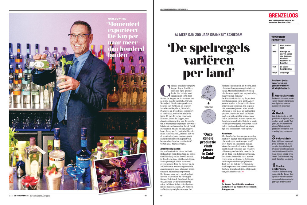 Interview CEO De Kuyper distilleerderij