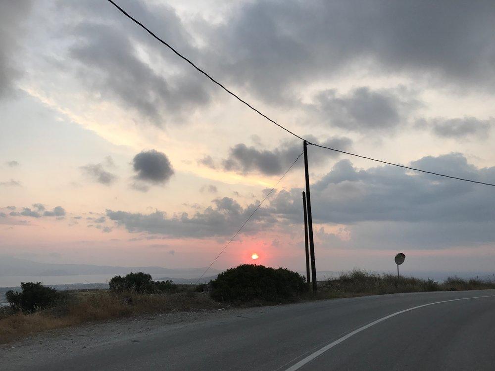 A perfect Naxos sunset