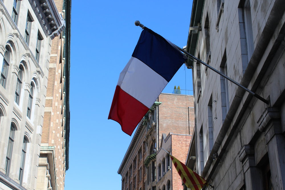 Old Montreal French Flag