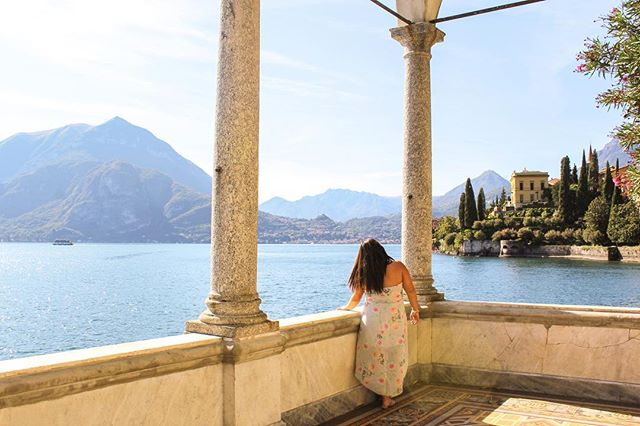 Feeling like a principessa at @villamonastero 👸🏻 Can't beat the views from this garden 😱 So beautiful it is almost unreal. Do you wish this was your garden view? 💕