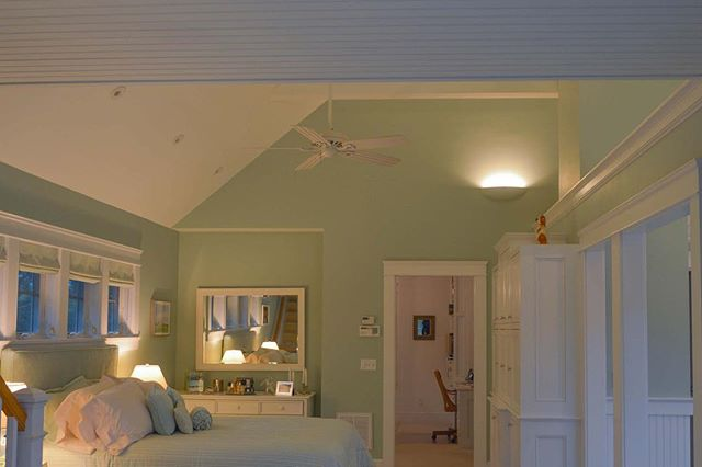 No complaints about this bedroom. #electrician #electricity #lightingdesign #light #newhome