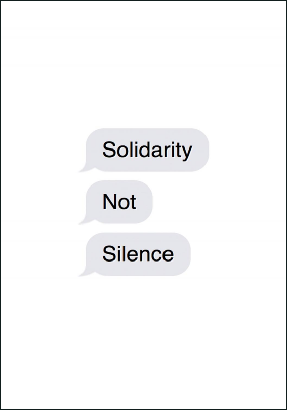 Solidarity not Silence zine, front cover
