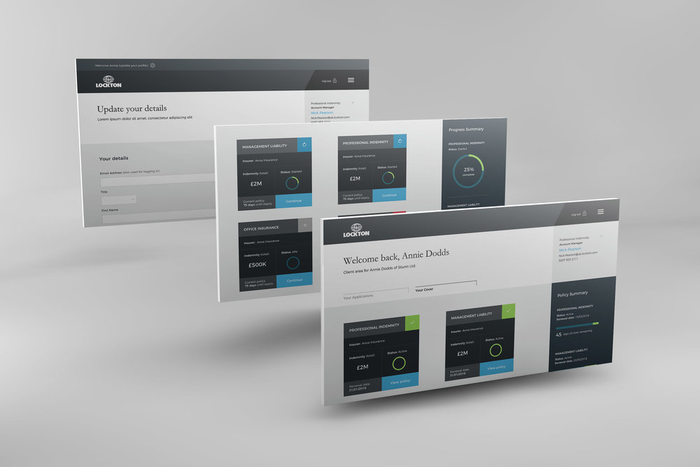 Lockton Customer Dashboard Detail Views