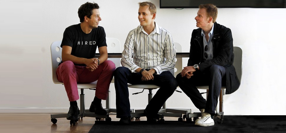 From left to right: Allan Grant (co-founder), Matt Mickiewicz (CEO & co-founder), and Douglas Feirstein (co-founder)