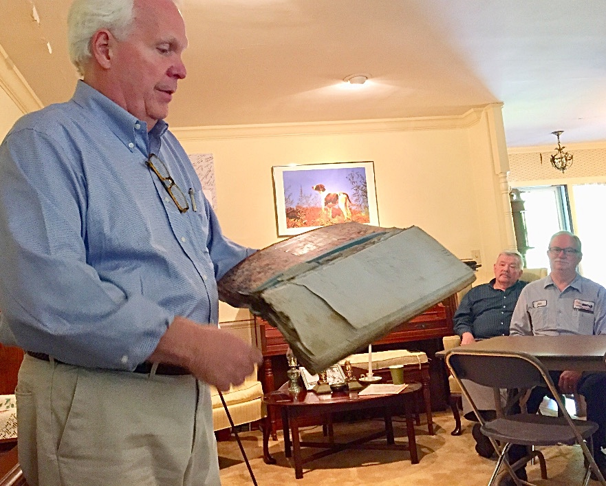 America is filled with families who own large tracts of land. These families often want to discover the best and highest use of their land and leave an enduring legacy. Shown here is a patriarch showing the pre-Civil War family ledger.