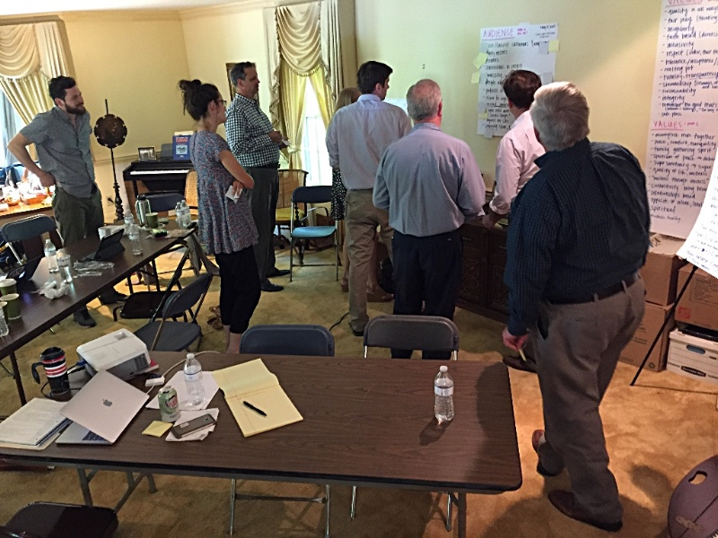 Key participants vote for and prioritize ideas and concepts for the future community.
