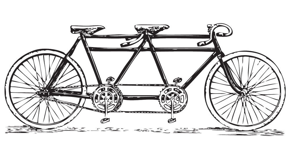 Boneshaker's handy safety tips for biking comfortably in pairs. - from BA 43-200