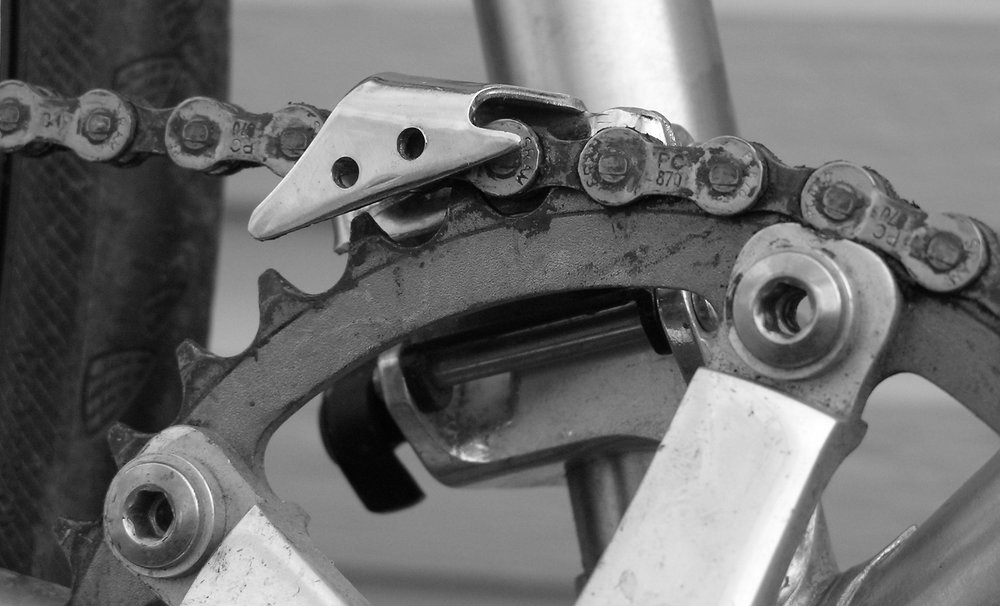 Figure 6: Finished chain keeper mounted on a frame and drive train.