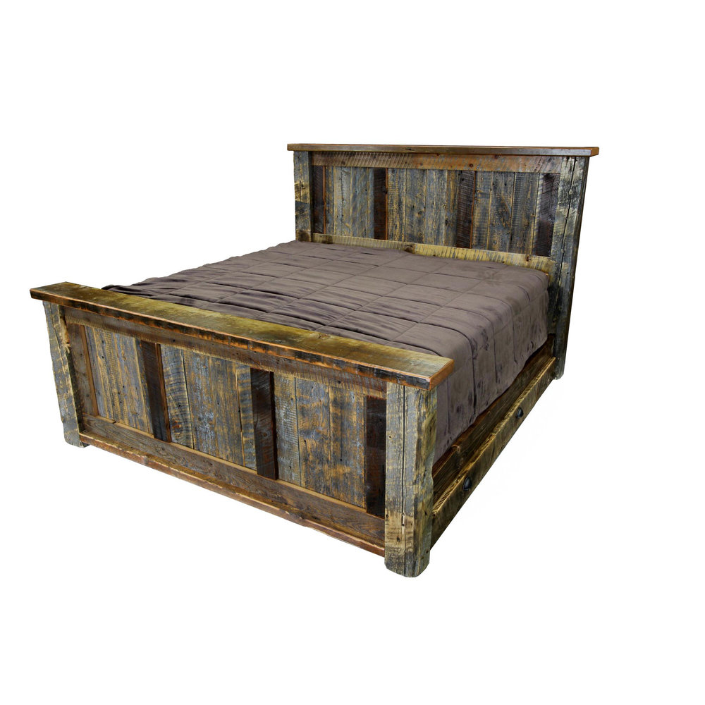 Barnwood Big Timber Bed