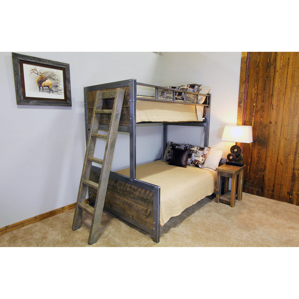"Modern Metal Bunk Bed ""The Bozeman"""