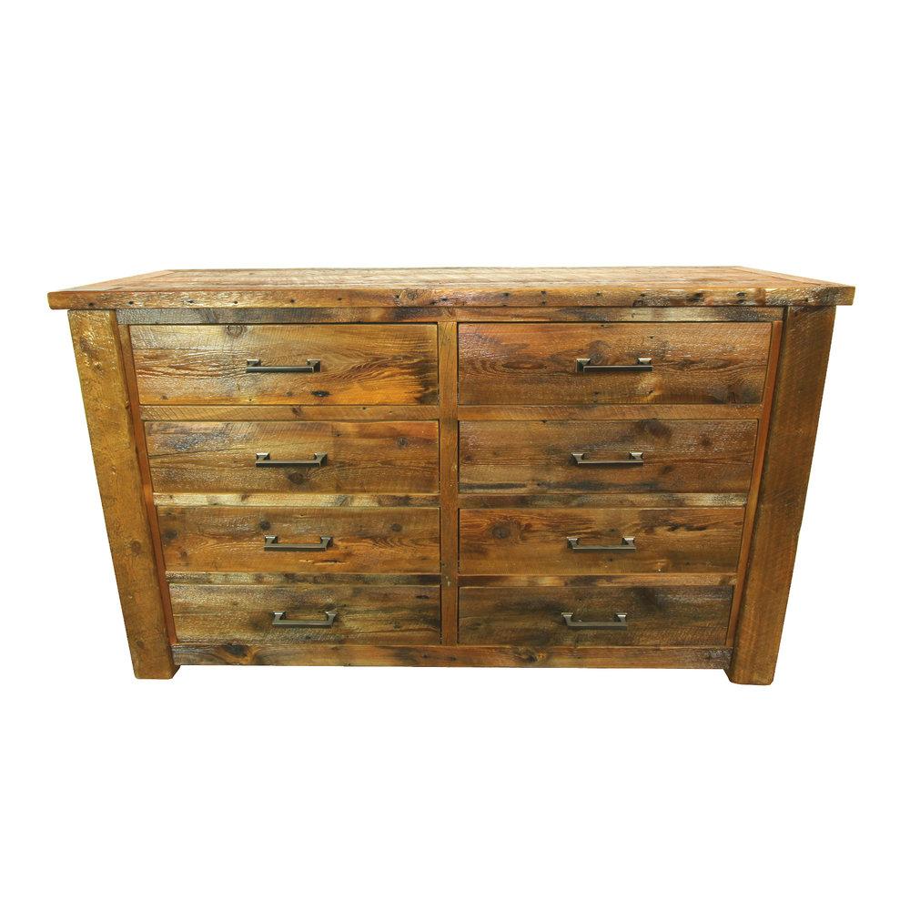 Big Sky dresser  Shown in reclaimed barnwood. Features bronze handles. Part of the Big Sky collection.