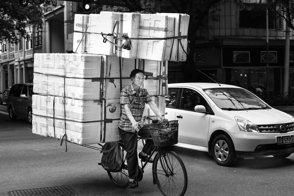 The box delivery man