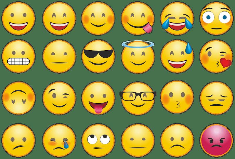 image of emoji faces showing various emotions